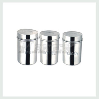 Tea Canister, Coffee Canister, Sugar Canister, Stainless Steel Canister Set