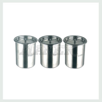 Tea Coffee Sugar Canister, Stainless Steel Tea Coffee Sugar Canister, Tea Canister, Coffee Canister, Sugar Canister