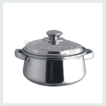 Belly Casserole, Stainless Belly Casserole, Stainless Steel Belly Casserole, Stainless Steel Cookware