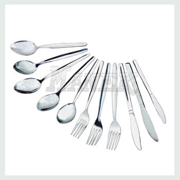 Spoons, Stainless Steel Spoons, Table Spoon, Tea Spoon, Soup Spoon, Desert Spoon, Child Spoon, Table Fork, Dessert Fork, Child Fork, Table Knife, Dessert Knife, Child Knife