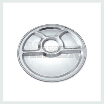 Compartment Tray, Round Compartment Tray, Steel Round Compartment Tray, Stainless Steel Round Compartment Tray, Mess Tray, Stainless Steel Mess Tray