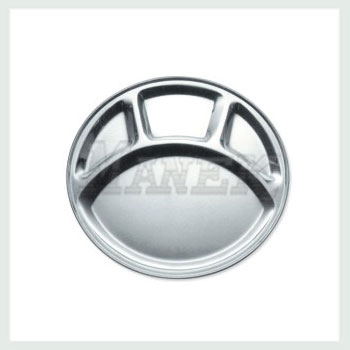 Compartment Tray, Steel Compartment Tray, Stainless Steel Compartment Tray, Round Compartment Tray, Mess Tray, Stainless Steel Mess Tray