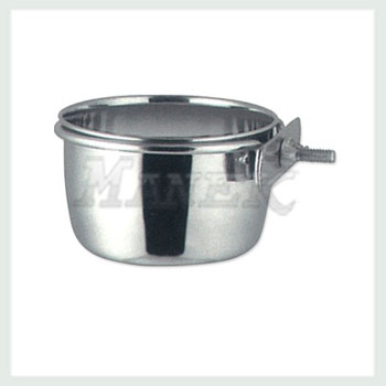 Coop Cup, Coop Cup with nut, Steel Coop Cup, Stainless Steel Coop Cup, Pet Items